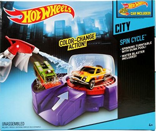Hot Wheels Color Shifters Spin Cycle Deluxe Playset by