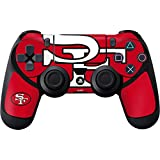 Skinit Decal Gaming Skin for PS4 Controller - Officially Licensed NFL San Francisco 49ers Retro Logo Design