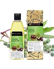 Soulflower Castor Oil, 225ml for Hair, Skin & Eyebrows – 100% Natural, Coldpressed & Hexane Free