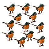 Nuxn 12 Piezas Robin Bird Figuras Artificial Pluma Robin Birds Decoración Árbol de...