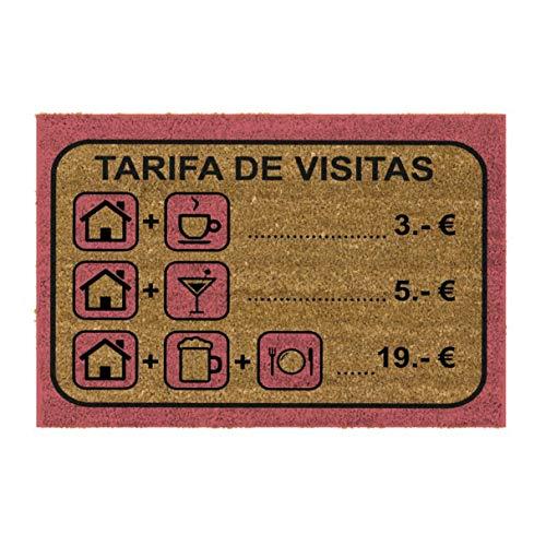 Felpudo Antideslizante 40x70 cm Tarifa Visitas