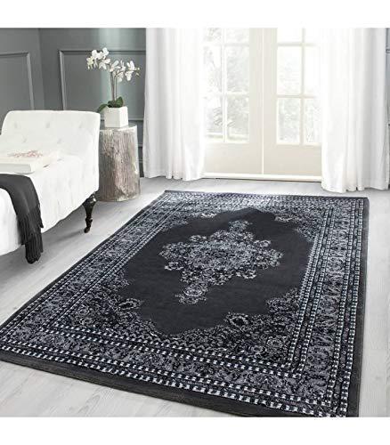 Orientteppich Klassischer Orientalisch Traditional Webteppich Grau Schwarz Weiss - 160x230 cm
