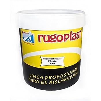 Pintura antigoteras con fibra de vidrio ideal para eliminar las goteras de tu terraza, tejado, casa. S-2 impermeabilizante fibrado Varios Colores (15L, Rojo) Envío GRATIS 24 h.