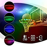 ANEAR LED Basketball Hoop Lights, Waterproof Glow-in-The-Dark Basketball Rim Lights, Super Bright Strip Lights with 8 Light Modes, Ideal for Playing Training Party Games at Night Outdoors