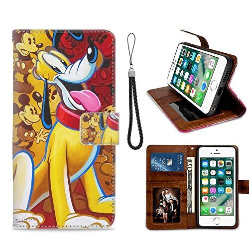 DISNEY COLLECTION Funda tipo cartera para iPhone 7/8 Plus, con diseño de Mickey y tarjetero, cierre magnético, función atril, protección 360