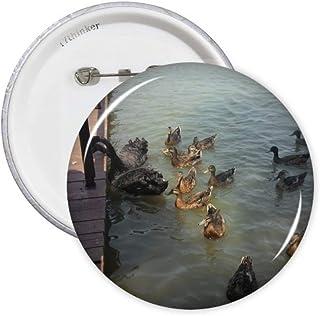 Feed Swan Lot de 5 badges Art Déco Cadeau Mode Badge Emblème Accessoire Décoration