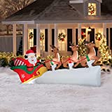Gemmy Christmas Santas Sleigh with Flying Reindeer Inflatable, 11