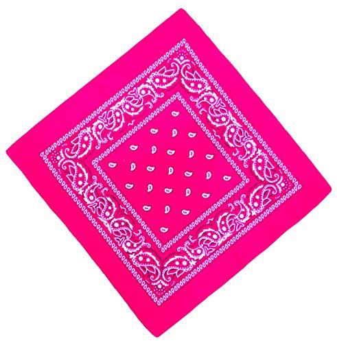 Unbekannt Bandana Kopftuch Halstuch Nickituch Biker Tuch Motorad Tuch verschied. Farben Paisley Muster, Pink, ...