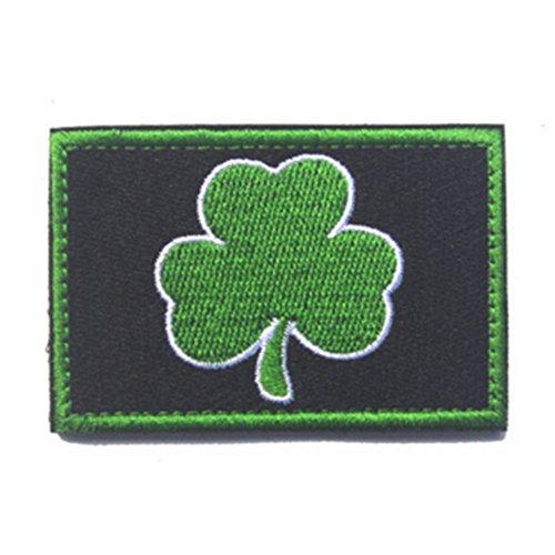 Kingnew Irish Shamrock bordado Patch Irlanda Hierro