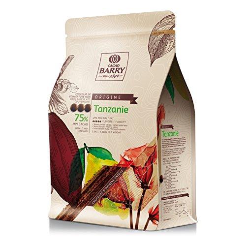 Cocoa Barry Tansania 75% Zartbitterschokolade 2.5kg Coverage