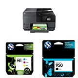 HP OfficeJet Pro 8610 Wireless All-in-One Color Inkjet Printer and Ink Bundle