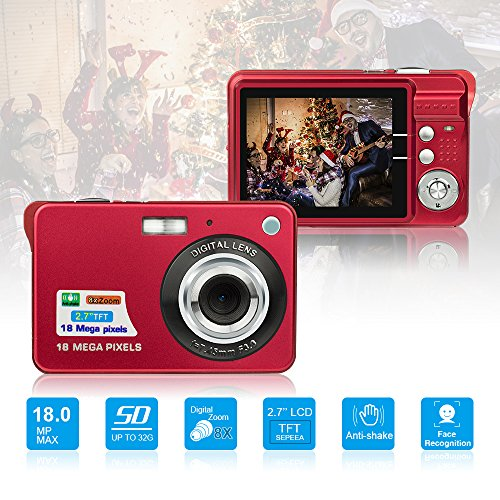 HD Mini Digital Cameras,Point and Shoot Digital Cameras for Kids Teenagers...