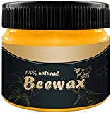 Wood Seasoning Beewax, Multipurpose Natural Wood Wax Traditional Beeswax Polish for Furniture, Floor, Tables, Chairs, Cabinets(1 Pack)