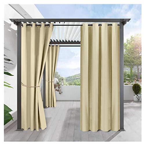 FKYUH Tende Oscuranti per Esterni 2 Pezzo Tende Impermeabile con Occhielli Termica Isolante Tenda da Sole per Gazebo Terrazzo (Colore : E, Taglia : 2 Pannelli(L134*A210cm))