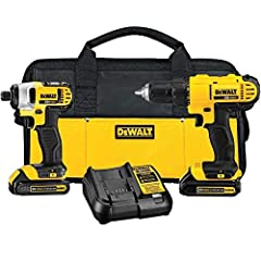 Ergonomic Design: Lightweight tools designed to fit the user's needs Increased Visibility: The DCF885 features a built in Led with 20 second delay after trigger release Includes: (1) DCD771 drill/driver, (1) DCF885 1/4 inches impact driver, (2) 20V M...