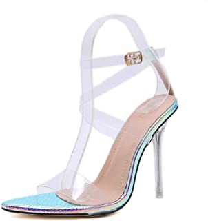 Transparent Women's Shoes Pointed Heel Sandals