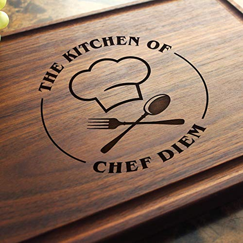 Personalized Engraved Chef Cutting Board - Housewarming or Birthday Gift. 501