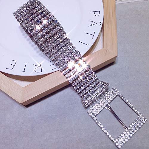 Women Crystal Rhinestone Chain Waist Belt, Fashion Ladies Party Club Diamond Crystal Waistband