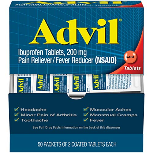 Advil (50 Packets of 2 Capsules) Pain Reliever/Fever Reducer...