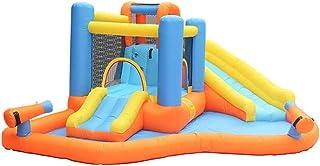 YBWEN Castillos hinchables Juguete de Diapositivas Externa de Juegos for niños pequeños Trampolín Equipo Castillo Inflable Castillo Inflable (Color : Orange, Size : 420x360x185cm)