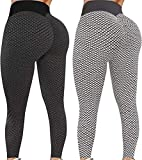 Butt Lifting TIK Tok Leggings for Women, High Waist Yoga Pants Tummy Control Slimming Booty Workout Leggings