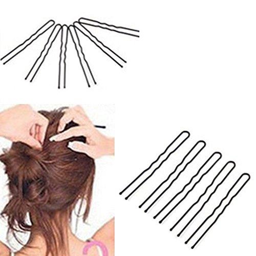 yibenwanligod Lot de 50 pinces à cheveux ondulées en forme de U
