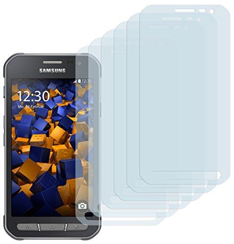 mumbi Schutzfolie kompatibel mit Samsung Galaxy Xcover 3 Folie klar, Displayschutzfolie (6x)