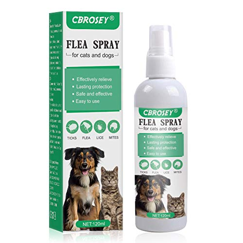 CBROSEY Flea Spray,Pulgas Spray,Anti Pulgas,Spray de protección contra pulgas,Apto para Perros y Gatos