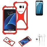 K-S-Trade® Mobile Phone Bumper + Earphones For ZTE Blade