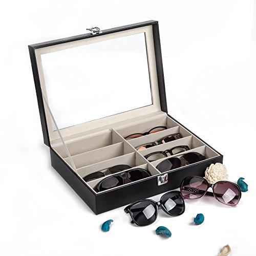 Sfeomi Organizador para Gafas de Sol Caja para Gafas con 10 Estuches Caja de Gafas de Sol para Mujeres y Hombres Estuche de Organizadora de Colección de Joyas (8 Estuches)