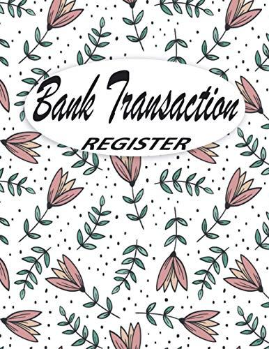 Bank Transaction Register Book: Checking Account Ledger, 6 Column Payment Record Tracker Log, Check Log Book, Debit Card Ledger, Checkbook Register ... Savings Account Ledger, (Seamless Design