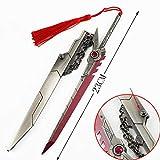 DJIEYU 1/5 Scale Mini Grand Duelist Yasuo Saber Sword Katana Metal Knife Model Figure Accessories Pendant Toy Die Cast Decoration Toys (B)