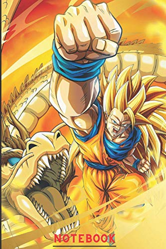 Notebook: Dragon ball super anime Lovers Blank lined notebook 6 x 9 120 pages dragon ball journall
