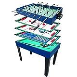 Charles Bentley Enfants Table Multisports - Jeux classiques 12 en 1 - Football / Ping Pong / Hockey sur Glace / Pool et Échecs