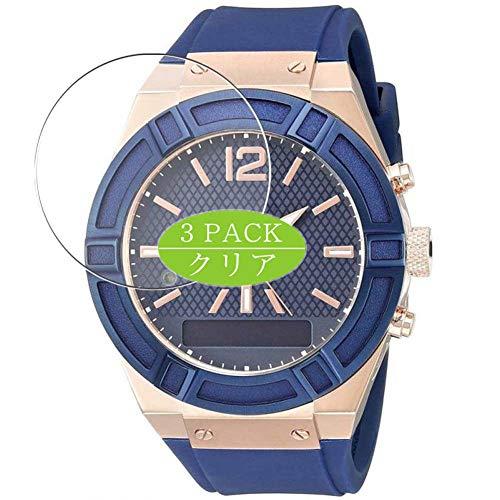 VacFun 3 Piezas Claro Protector de Pantalla, compatible con Guess Connect Smartwatch 45mm Hybrid Watch, Screen Protector Película Protectora(Not Cristal Templado) NEW Version