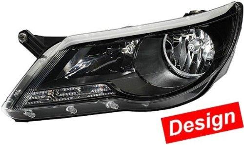 HELLA 1ED 247 038-831 FF/Halogène-Kit de projecteurs principaux - 12V - Impression optique: noir - Couleur du voyant: limpide - gauche/droite - Kit