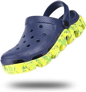 Zuecos Hombre Zapatillas da Jardin Goma Mujer Sandalias Transpirables Pantuflas Playa Verano Negro Blanco Azul Amarillo Ta...