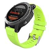 MoKo Garmin Fenix 6/Fenix 6 Pro/Fenix 5 Banda, Silicona Reemplazo Correa con 2pzs Destornilladores para Garmin Forunner 935 Smart Watch, 13.5cm-22.5cm, no Adapta a Fenix 6X/6S, Verde