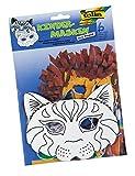 folia 23202 - Kindermasken Katze, aus Pappe, 6 Stück, weiß, zum selbst Bemalen und Gestalten, für...