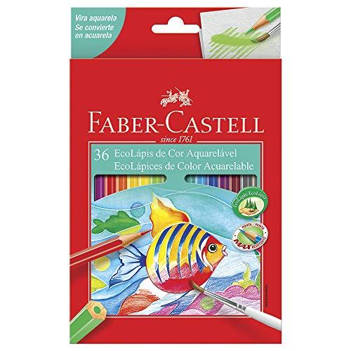 Lápis de Cor Ecolápis Aquarelável 36 Cores, Faber-Castell
