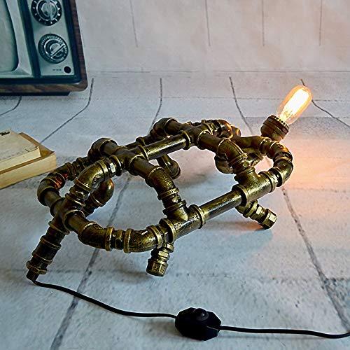 Yangmanini. Im Europäischen Stil Eisen Kunst Kreativer Dekoration Schildkröte Wasserrohr Tischlampe Bar Industrie Artdekoration 56 * 32 * 18cm