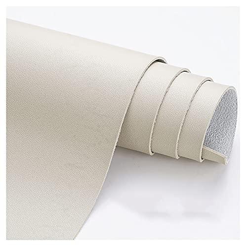 wangk Polipiel para tapizar Tela De Cuero De Imitación Tejido de Piel sintética para reparación de sofás Costura Elaboración Proyectos de Bricolaje -Beige Claro 1.38x7m
