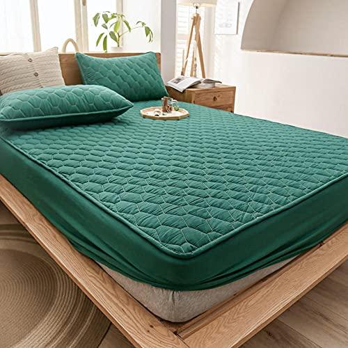 Liyingying Funda de cama impermeable de color puro de algodón, adecuada para decorar dormitorio, habitación de invitados, el mejor regalo para familiares y amigos-Malachite_Green_90200cm_