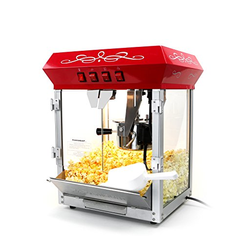 Find Bargain Paramount 6oz Popcorn Maker Machine - New Upgraded Feature-Rich 6 oz Hot Oil Popper - [...