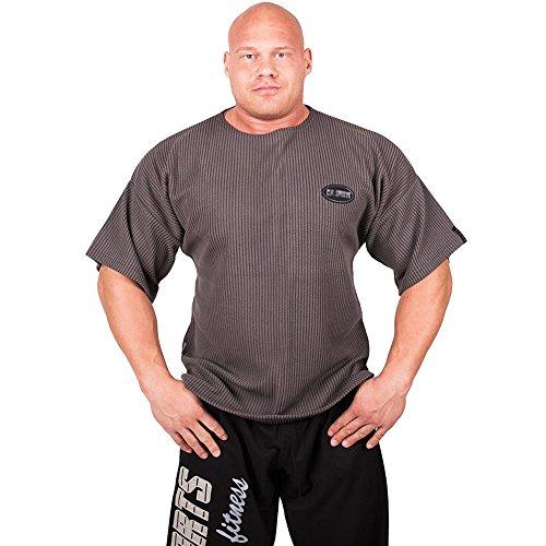 Comodissima maglietta in misto cotone e poliestere. Motivo a coste. Ideale per l'allenamento e per il tempo libero. Disponibile nelle taglie: M-L-XL-XXL.