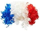 France Supporter Perruque Homme Bleu/Blanc/Rouge