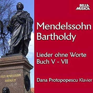 Mendelssohn: Lieder ohne Worte, Buch V-VII, Vol. 2