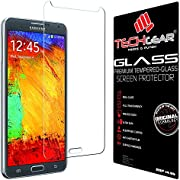 TECHGEAR Screen Protector for Galaxy Note 3 (N9000 / N9005) - GLASS Edition Genuine Tempered Glass Screen Protector Guard Cover Compatible with Samsung Galaxy Note 3