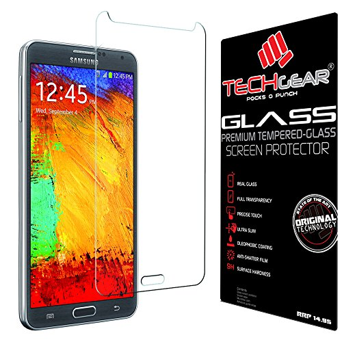 TECHGEAR Screen Protector for Galaxy Note 3 (N9000 / N9005) - GLASS Edition...