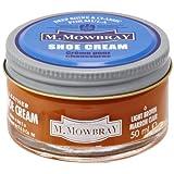 [エム・モゥブレィ] シューケア 靴磨き 栄養 保革 補色 ツヤ出しクリーム シュークリームジャー ライトブラウン 50ml
